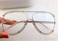 big plastic case - new fashion women brand eyeglasses CL123 pilot frame big fashion frame design glasses prescription cool outdoor design with original case