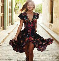 ancient clothes - summer dresses for women long maxi bohemian chiffon dress ladies runway fashion clothing printing degree of tightness Restore Ancient V Lead