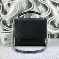 Wholesale Famous Brand Women Genuine Leather Handbag Flap Bag Cowhide Chain Plaid Bag
