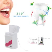 Wholesale 50m Hygiene Freshen Breath Teeth Flosser Waxed Tooth Clean String Oral Interdental Clean Dental Floss Square Box