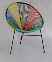Wholesale PE Rattan Acapulco Chair Outdoor Mexico Classic String Chair Colorful Sun Outdoor Acapulco Chair