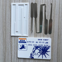 Wholesale 5pcs JAMES BOND Credit Card Pick Set Card Unlock Picks Lockpick Locksmith Tools Lock Picking Padlock