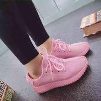 Wholesale Adidas Yeezy boots Kanye Milan West Yeezy Boost Classic Pink Men s Women s Fashion Trainers Shoes With Box Sports Shoes
