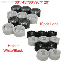 Wholesale New Freeshipping Led Lens Diameter mm Black Holder degree Lenses Reflector Collimator for w w w Light