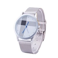 auto glass resin - 2016 New Fashion Silver Plated Stainless Steel Quartz Wrist Watch Man Women Wristwatches For Lovers Couple Watch