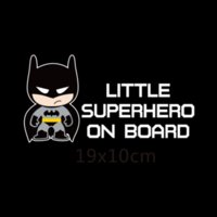 Wholesale Little Superheroes Baby On Board Car Styling Reflective Car Stickers Decals for chevrolet cruze ford focus vw hyundai honda kia
