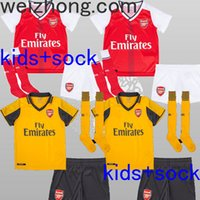 arsenal youth soccer - 2016 kids Arsenal soccer jersey Kits ALEXIS WILSHERE GIROUD CHAMBERS OZIL chilld youth football shirts