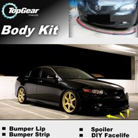 Wholesale The Stig Recommend Body Kit For Acura TSX Front Skirt Deflector Spoiler For Car Tuning Bumper Lip Strip