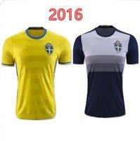 Wholesale AAA Sweden Soccer Jersey Zlatan Ibrahimovic Soccer Jersey Sweden Shirts Home Yellow Away Black Camista KALLSTROM Maillot De Foot
