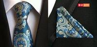 Wholesale 48 colors men s necktie pocket square set red purple blue yellow navy black brown gray