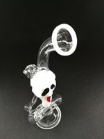 ash mask - Newest Christmas devil mask glass bongs tall inch oil rigs glass bongs with ash catcher mm and skull glass water pipes