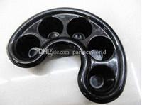 Wholesale EMS DHL Nail Art Tool Nail Bubble Bath Spa Bowl Black Nail Soak Off Tray