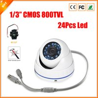 Wholesale 24pcs Led IR CUT Vandalproof Outdoor CMOS Dome TVL quot Lens CCTV Security Camera CCTV