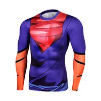 animate quick - 2016 Dragonball animated D digital printing super messiah who quick drying compression lycra round neck long sleeve T shirt