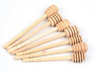 Wholesale 3 Styles Mini Wooden Honey Dippers Wedding Favors Creative Kitchen Gadgets Honey Stickers Hot Selling