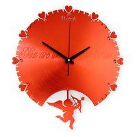 analog clock themes - 1pcs Romantic love fashion modern Cupid clock shipping mute art room wall clock Romantic theme Quartz Wall Clock