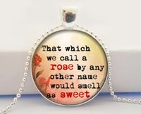 american literature - Romeo and Juliet Necklace That which we call a rose William Shakespeare Necklace Literature Quote Necklace