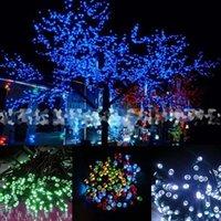 acrylic led christmas tree - Hot New LED Solar String Light F Fairy Light Garden Tree Decoration Party Wedding B247