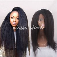 Wholesale 7a Full Lace Human Hair Wigs Peruvian Hair kinky Straight Lace Front Wigs Human Hair Lace Wigs For Black Women