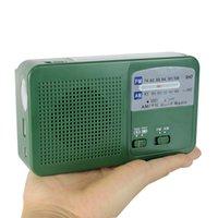 Wholesale Dynamo Generator FM AM Radio Solar Crank Radio Power Flashlight Emergency Charger Y4346G Fshow