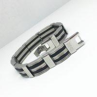 bar offers - Stainless Steel Bracelet Special offer Hot Sales Goods Fashion Style mm Men s Steel Silicone Bracelet Link Bracelet For Man and Women