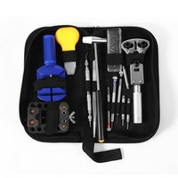 Wholesale High Quality Generic Watch Repair Tool Kit Case With Watch Repair Tool Kit Hammer Bnd Black Carrying Case