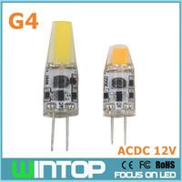 Wholesale NEW Mini G4 LED Lamp COB LED Bulb W W AC DC V LED G4 COB Light Beam Angle Chandelier Lights Replace Halogen G4 Lamps