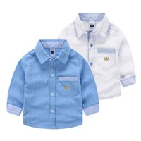 bamboo clothing kids - 2016 boys clothing boys clothes kids clothing Baby boy children bamboo cotton embroidery crown long sleeve shirts