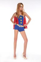 Wholesale Captain America superman batman superwoman role playing Halloween dress COSPLAY uniform temptation