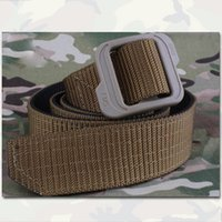 Wholesale 1 inch Reversible Tactical Belt Two Sided Using Men Sports Camo Army Canvas Outdoor Hunting Gear