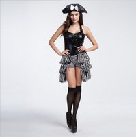 adults movies lot - New Adult Luxury Women Pirate Dress Sexy Backless Cosplay Halloween Costumes Uniform Temptation Stage Performance Clothing By DHL