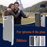 apple timers - Mental Selfie cases folding selfie sticks self timer STIKBOX cases bluetooth remote shockproof kickstand back covers For iphone s plus