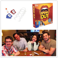 Wholesale watch ya mouth game speak out Board Games Family Edition Hilarious Mouth Guard Christmas Party Speak out board game