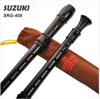 Wholesale SUZUKI SRG William Stylish Detachable Instrument Music Hole German style High pitch Recorder Black