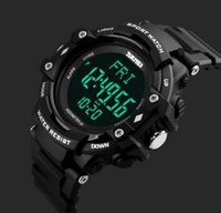 alarm chrono watch - New Men Multifunction D Pedometer Heart Rate ATM Waterproof Chrono Alarm Sport Watches