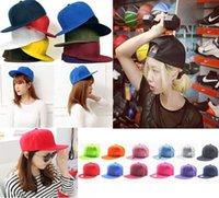 bboy style - 14 Style New Blank Plain Baseball Snapback Hats Unisex Men Women Hip Hop Adjustable bboy Basketball Ball Hat Cap Sun Protection Hat