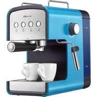 aluminum types commercial - coffee maker Bear bear Italian coffee machine home commercial full semi automatic steam type coffee pot KFJ A13H1