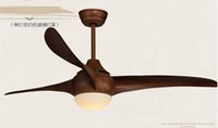 Wholesale 52inch ceiling fan light retro American minimalist dining room living room LED light ceiling fan with remote control