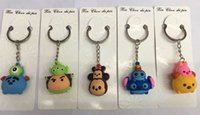 bag man game - Hot Sale Cartoon tsum tsum mickey minnie Game Style mixed PVC Key chain Children toy gifts In Bag