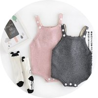 knit wear - 2016 autumn new babies romper clothes Baby boys girls knitting suspender romper kids cotton wear jumpsuit children bodysuit A9306