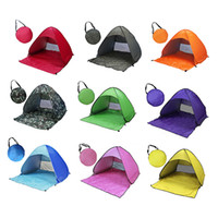 Wholesale Summer Outdoor Camping Fishing Hiking Beach Persons UV Protection Fully Sun Quick Automatic Opening Tent Hot Sale
