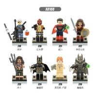 batman red hood - 480 New Arrival DIY Avengers Alliance Super Hero Super man VS Batman The Sub Mariner Red Hood Building Blocks Bricks Toy Gift