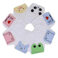 baby sweatbands - Baby Sweatbands Children Cotton Cute Animal Pattern Pad Towel Soft Gauze Absorbable Sports Sweat Towel Newborn Cartoon Bibs CM CM