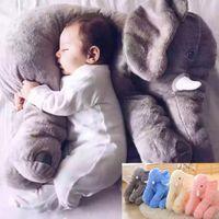 Cheap INS Popular children sleep elephant Pillow+blanket Soft Plush Elephant Doll Animals toys baby Stuffed doll birthday gift LJJP270