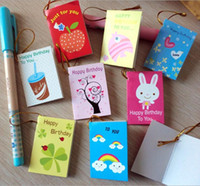 Wholesale Europe cute little fresh creative style business birthday party with a sling small greeting card