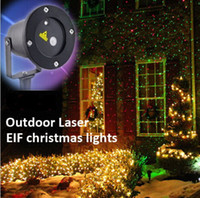 Wholesale Outdoor IP65 Waterproof Laser Stage Light Elf Christmas lights LED laser light projector Red Green Firefly Floodlights Yark Decorations