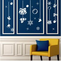 art holiday packages - The new hot Christmas hot selling wall stickers can be removed New Year glass wall stickers holiday decorations