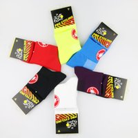 Wholesale 2016 New Unisex Cycling Socks Bike Footwear High elasticity Stockings sports Hot Sale Riding Bicycle socks