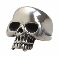 american indian tribes - Stainless Steel Jewelry Retro D Skull Ring Cool Punk Tribe Gothic Ghost Biker Band Silver Size for Men and Women
