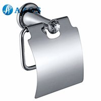 Wholesale AZOS Wall Mounted Toilet Paper Holders Bathroom Accessories Shower Hardware Components Chrome Polished Finish Silver Color GJKE3105L